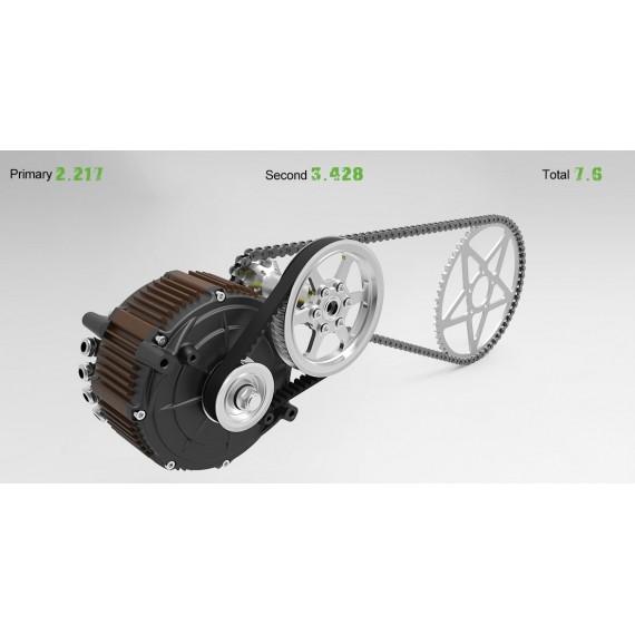 Midtmontert motor inkl girreduksjon